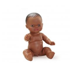 Paola Reina Baby pop jongen donker, 34cm
