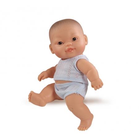 Baby pop, jongen, gekleed, 21cm