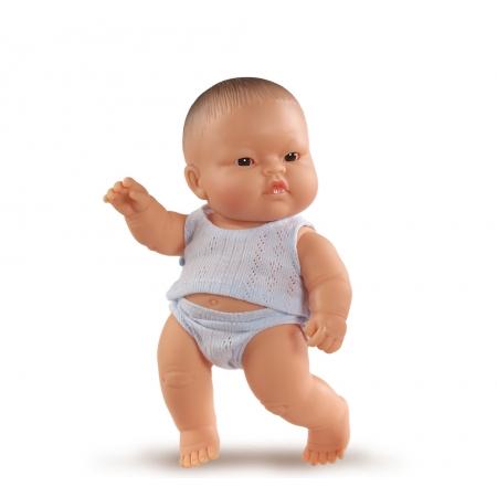 Baby pop, jongen, gekleed, 21 cm