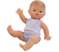 Baby pop jongen, 34cm in ondergoed