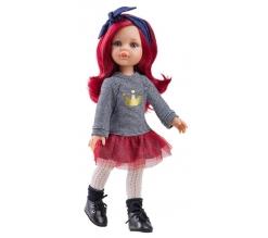 Paola Reina pop Amigas Dasha rood haar 32 cm