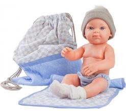 Paola Reina pop, Mini Pikolines jongen met tas, 32cm